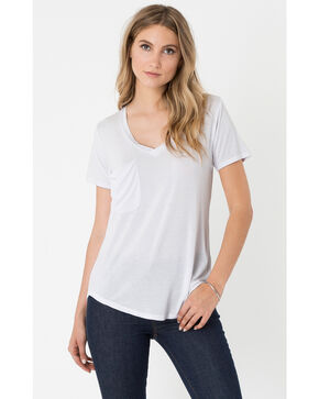 Z Supply Women's White Micro Modal Pocket Tee, White, hi-res