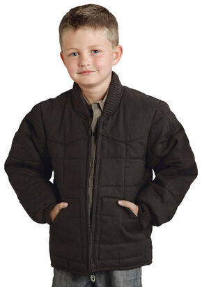 Roper Boy's Rangegear Canvas Jacket, Chocolate, hi-res