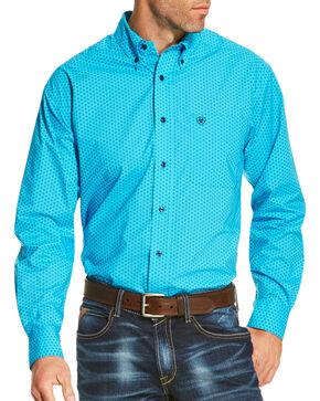 Ariat Men's Blue Riverton Print Long Sleeve Shirt , Blue, hi-res