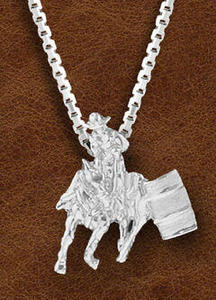 Kelly Herd Women's Sterling Silver Small Barrel Racer Necklace, , hi-res