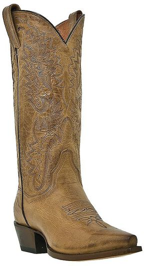Dan Post Mad Cat Cowgirl Boots - Snip Toe, Tan, hi-res