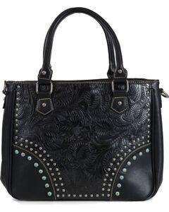 Trinity Ranch Women's Black Embossed Handbag, , hi-res