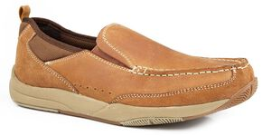 Roper Swift Lite Slip On Shoes, Tan, hi-res
