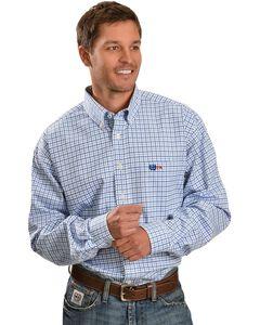 Cinch ® Flame Resistant Blue Plaid Work Shirt, , hi-res