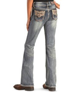 Grace in LA Girls' Multi-Stitch Pocket Bootcut Jeans , , hi-res