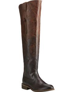 Ariat Women's Chocolate Farrah Sassy Boots - Round Toe , , hi-res