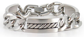 Cody James Men's Silver Chain Bracelet, Silver, hi-res