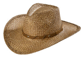 Scala Tea Moroca Straw Cowboy Hat, Tea, hi-res