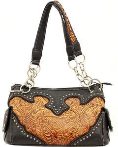 Blazin Roxx Tooled Satchel Bag, , hi-res