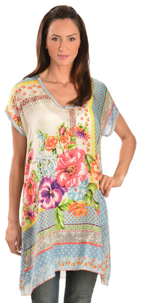 Johnny Was Women's Silk Modisch Tunic, Print, hi-res