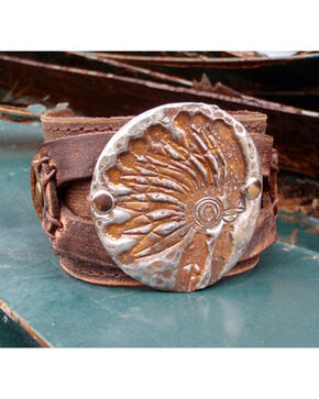 Jewelry Junkie Indian Headdress Cuff Bracelet, Multi, hi-res