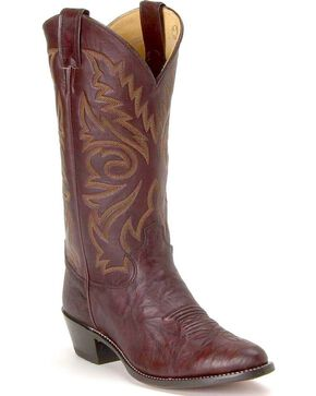 Justin Marbled Deerlite Cowboy Boots - Medium Toe, Dark Brown, hi-res