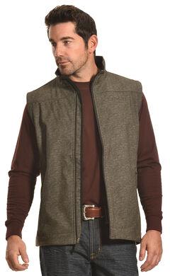 Cinch Men's Olive Bonded Softshell Vest , , hi-res