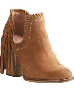 Ariat Women's Unbridled Lily Suede Fringe Boots- Round Toe, , hi-res