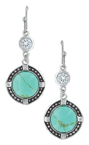 Montana Silversmiths Women's True North Turquoise Earrings , Turquoise, hi-res