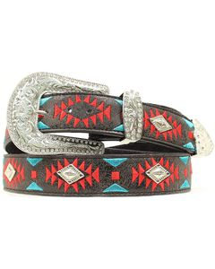 Blazin Roxx Southwest Stitch Diamond Belt, , hi-res