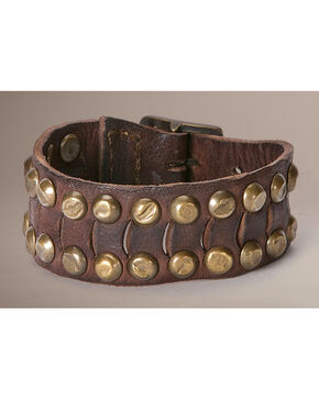 Frye Cut Stud Cuff, Dark Brown, hi-res