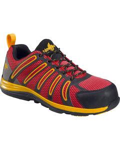 Nautilus Men's Red Metal Free Wedge Sole Work Shoes - Comp Toe , , hi-res