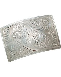 Montana Silversmiths Floral & Scroll Engraved Buckle, , hi-res