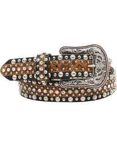 Ariat Women's Circle Concho and Rhinestone Belt, , hi-res