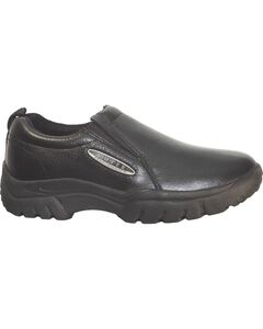 Roper Performance Smooth Leather Slip-On Shoes - Round Toe, , hi-res