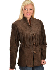 Scully Fringe Boar Suede Blazer, , hi-res