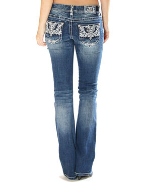 Grace in LA Women's Embellished Pocket Jeans - Boot Cut, Indigo, hi-res
