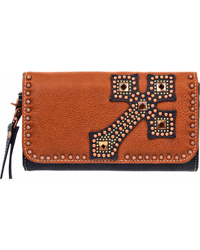 Blazin Roxx Women's Delilah Cross Wallet/Clutch , Rust Copper, hi-res