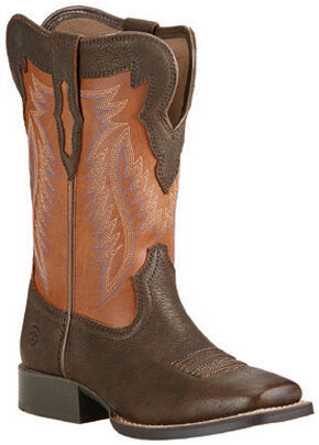 Ariat Youth Boys' Buscadero Cowboy Boots - Square Toe, Brown, hi-res