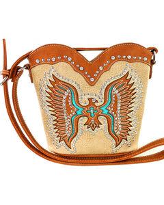 Montana West Cut-Out Native American Thunderbird Crossbody Bag, , hi-res