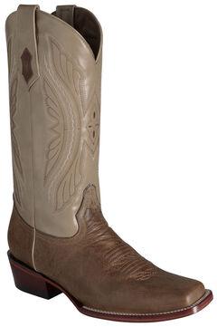 Ferrini Men's Antique Tan Kangaroo Western Boots - Square Toe, , hi-res