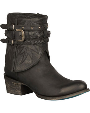 Lane Dove Short Harness Boots - Round Toe, Black, hi-res