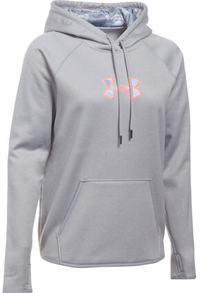 Under Armour Women's Grey Caliber Hoodie , Grey, hi-res