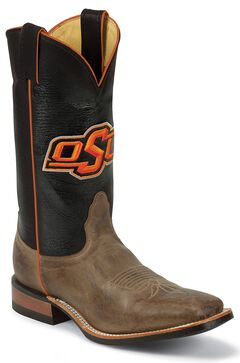 Nocona Men's Oklahoma State University College Cowboy Boots - Square Toe, , hi-res