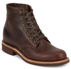 Chippewa Men's Cognac General Utility Service Boots - Round Toe, , hi-res