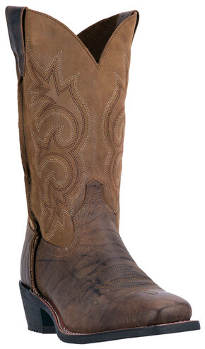 Laredo Men's Peterson Western Boots - Square Toe , Dark Brown, hi-res