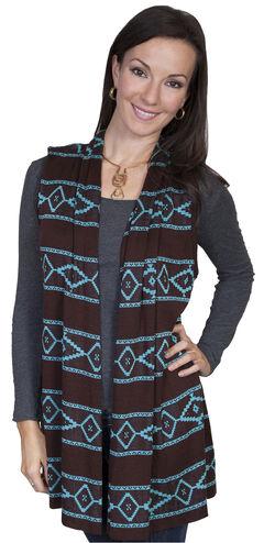 Scully Women's Aztec Sweater Vest, , hi-res