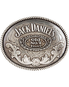 Jack Daniel's Old No. 7 Belt Buckle, Silver, hi-res