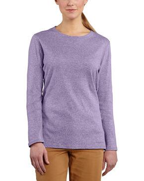 Carhartt Women's Calumet Long Sleeve Crewneck Shirt, Lavender, hi-res