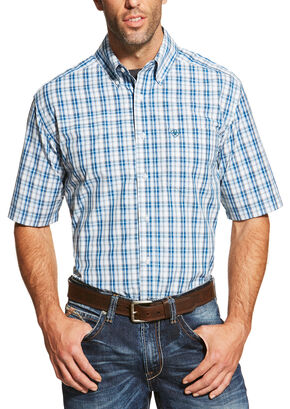 Ariat Men's Blue Dominic Shirt - Big and Tall , Blue, hi-res