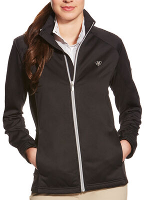 Ariat Women's Black Saga Full Zip Jacket, Black, hi-res
