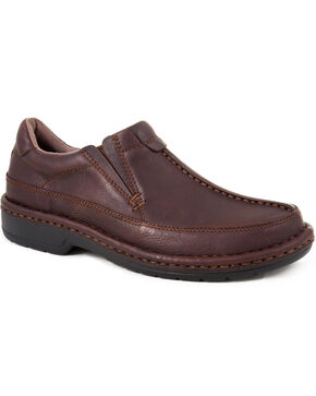 Roper Ramblerlite Slip-On Casual Shoes, Brown, hi-res