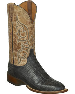 Lucchese Men's Haan Hornback Caiman Tail Western Boots - Square Toe, , hi-res