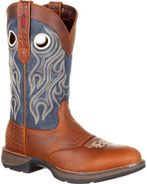 Durango Men's Brown Saddle Western Boots - Round Toe , Brown, hi-res