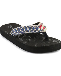 Shyanne® Women's American Flag Sandals, , hi-res