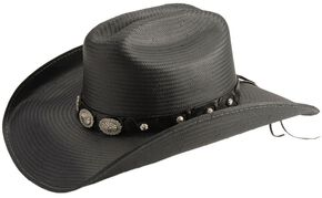 Bullhide Girls Lie Too Straw Cowboy Hat, Black, hi-res