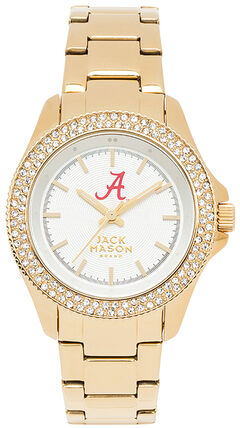 Jack Mason Women's Alabama Gold-Tone Glitz Sport Bracelet Watch , , hi-res