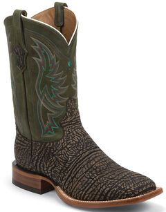 Tony Lama San Saba Distressed Cowboy Boots - Square Toe, , hi-res