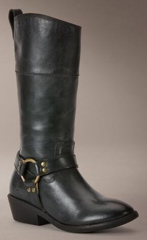Frye Girls' Melissa Harness Inside-Zip Boots, Black, hi-res