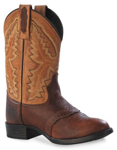 Old West Youth Boys' Cowboy Boots - Round Toe , , hi-res
